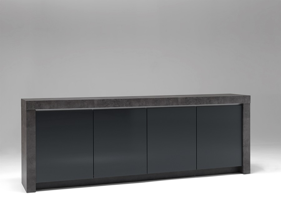 buffet gris anthracite maison design. Black Bedroom Furniture Sets. Home Design Ideas