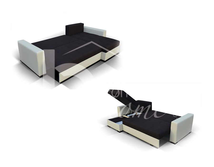 canap convertible avec 2 coffres de rangement. Black Bedroom Furniture Sets. Home Design Ideas