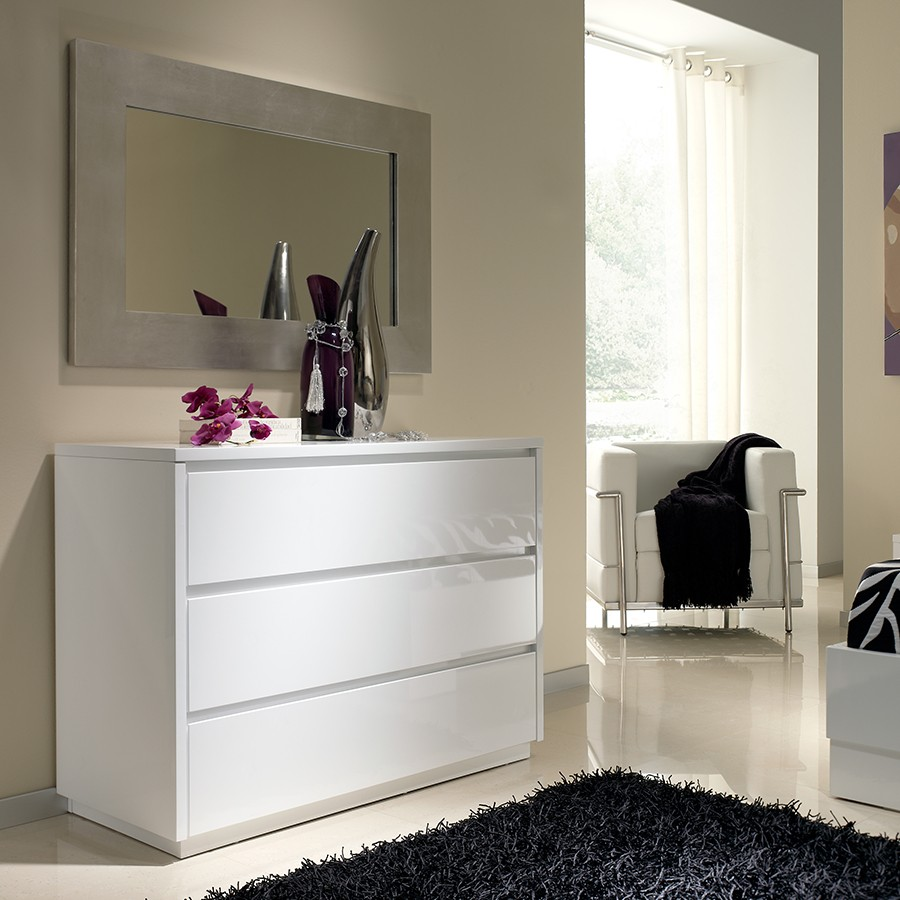 commode blanc laque. Black Bedroom Furniture Sets. Home Design Ideas