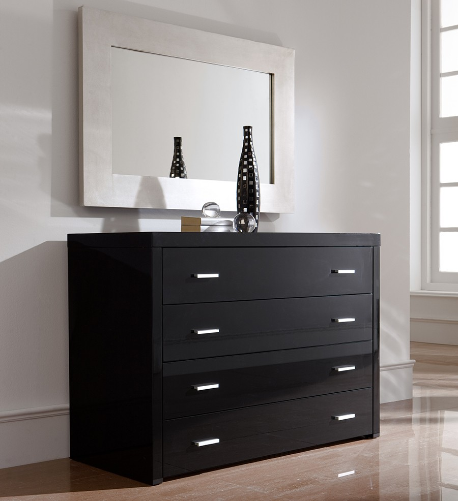 commode noire pas cher finest commode tiroirs de la collection soho de south shore with commode. Black Bedroom Furniture Sets. Home Design Ideas