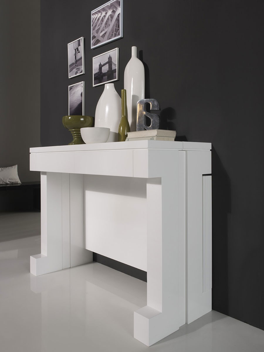 Commode haute for Console transformable en table salle a manger