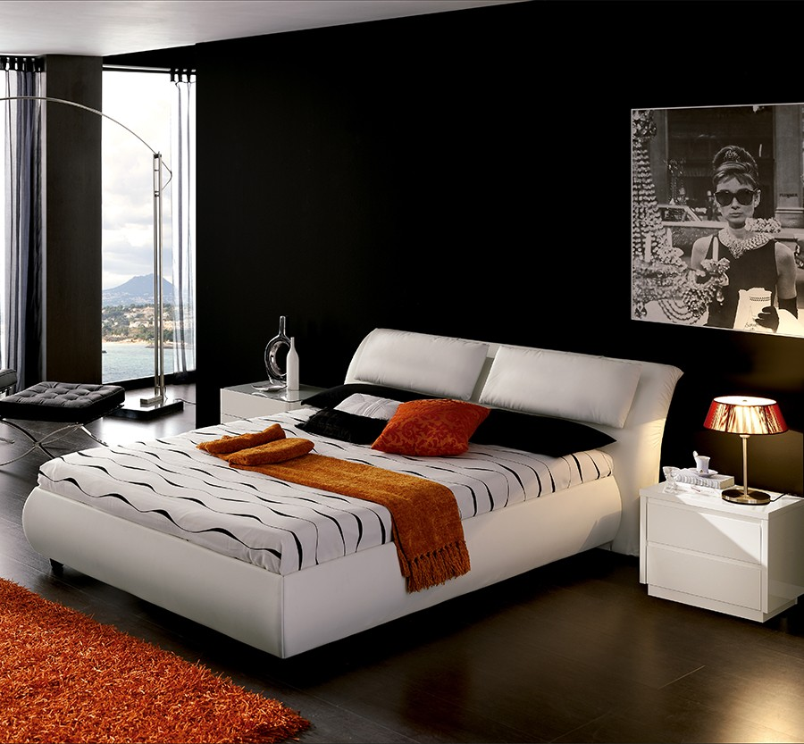 lit design italien avec sommier inclus. Black Bedroom Furniture Sets. Home Design Ideas
