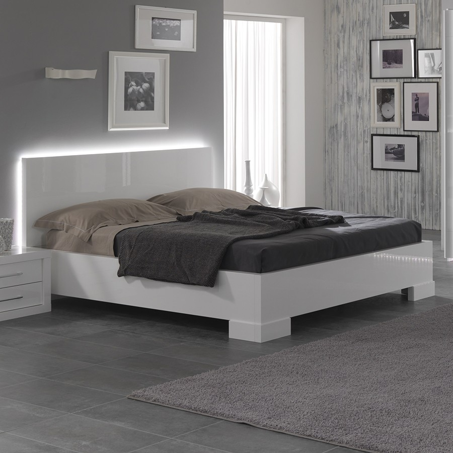 lit blanc 2 personnes pas cher maison design. Black Bedroom Furniture Sets. Home Design Ideas