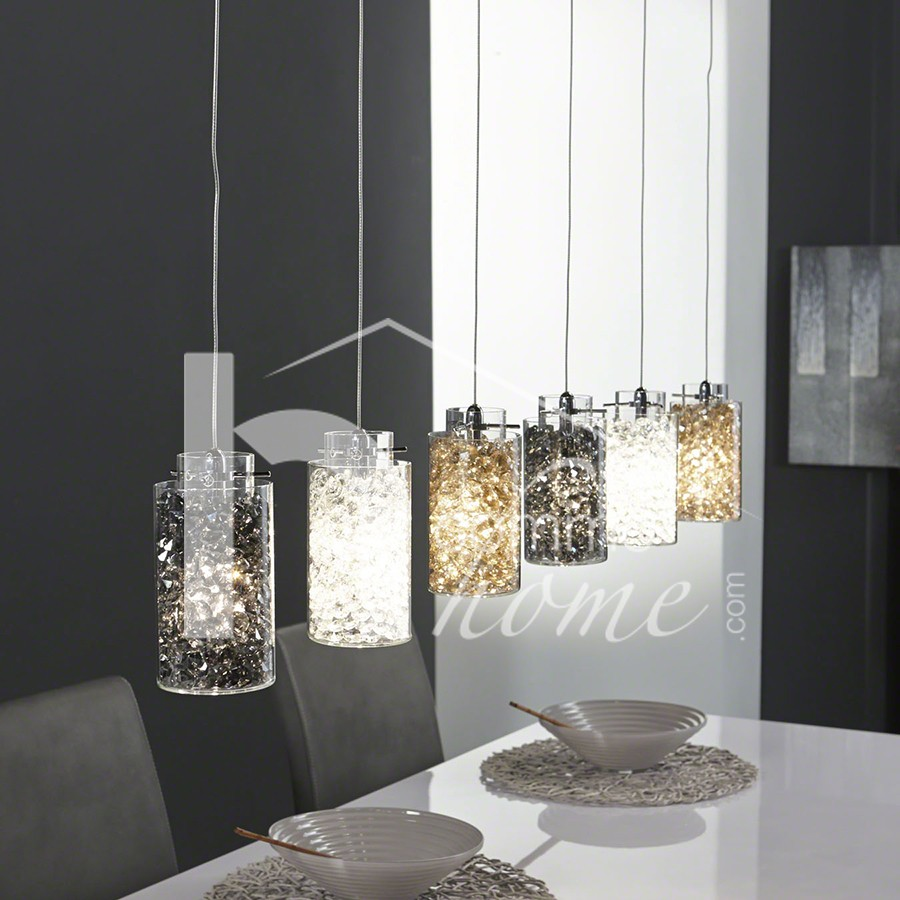 Luminaire suspension design en m tal chrom rondo for Eclairage suspension design