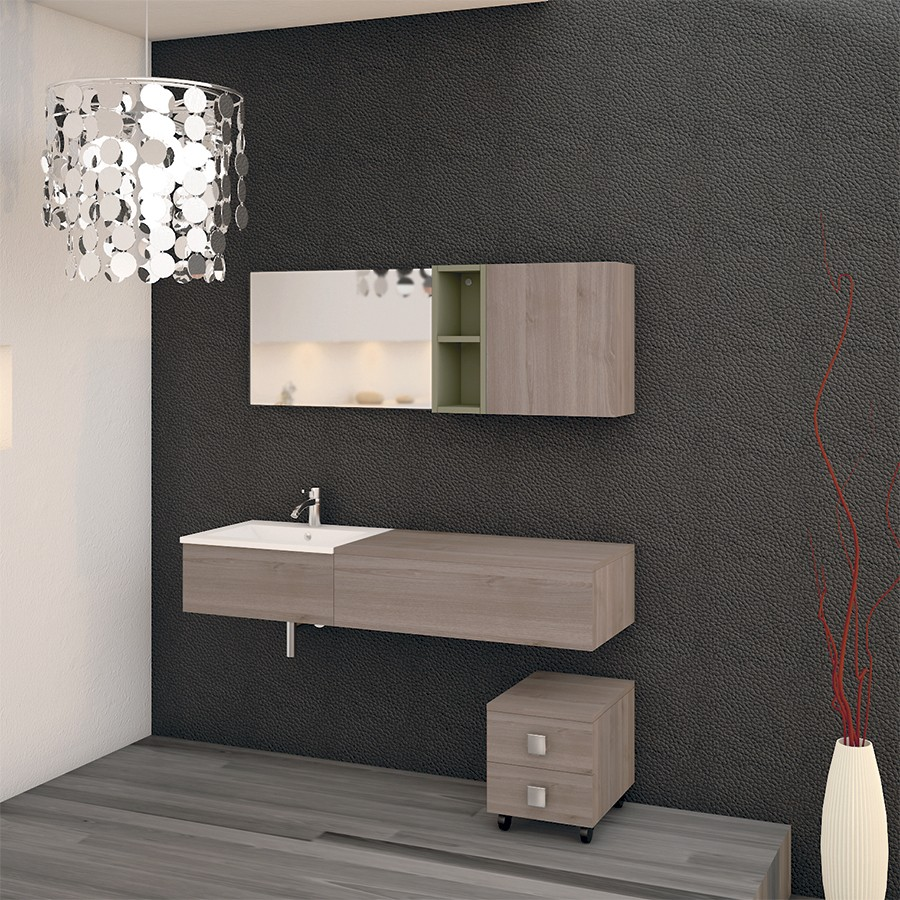 meuble suspendu salle bain. Black Bedroom Furniture Sets. Home Design Ideas