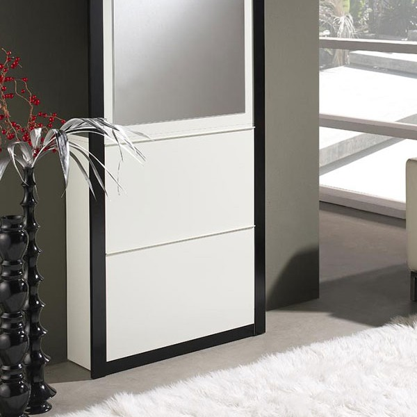 meuble entree blanc laque maison design. Black Bedroom Furniture Sets. Home Design Ideas