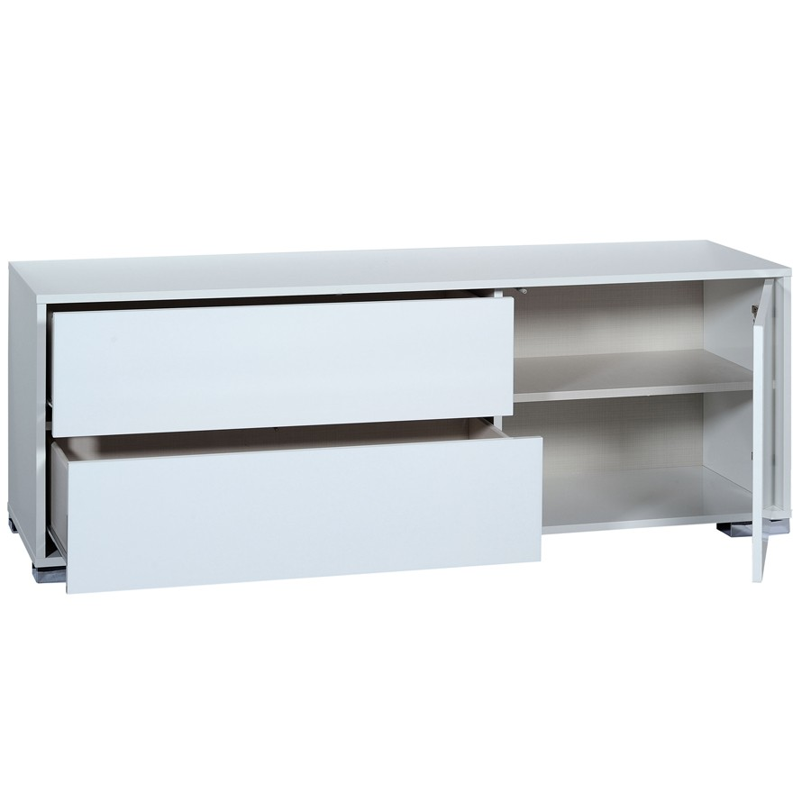 Buffet blanc laqu conforama free buffet noir l with for Buffet blanc laque conforama