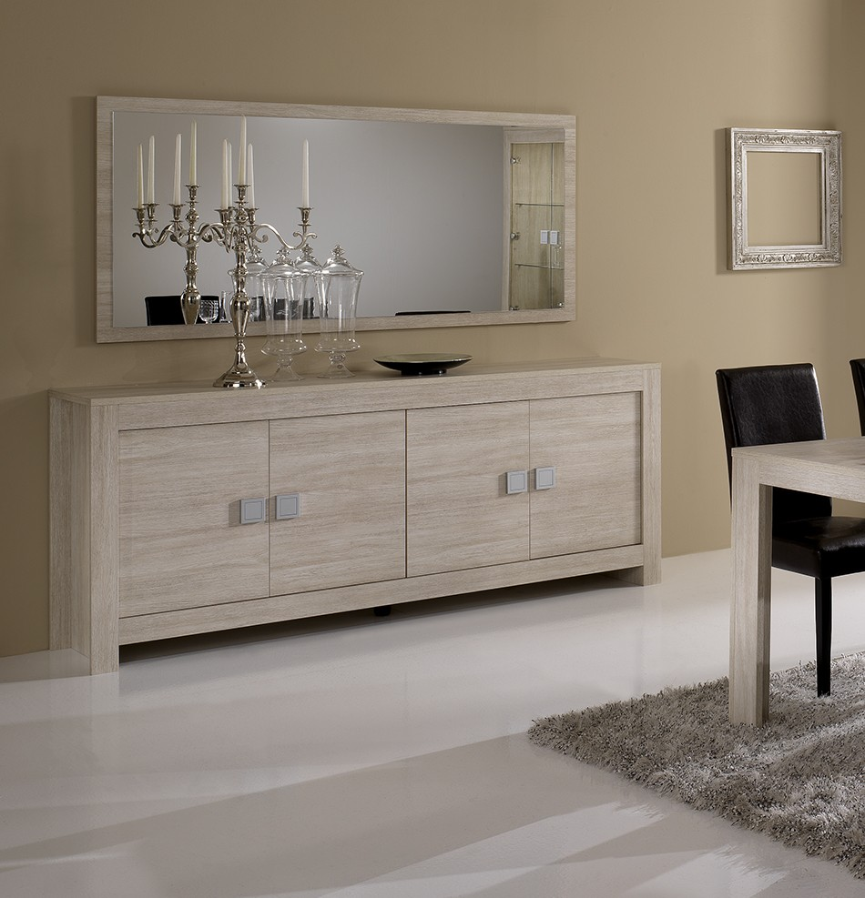salle manger chene blanchi. Black Bedroom Furniture Sets. Home Design Ideas