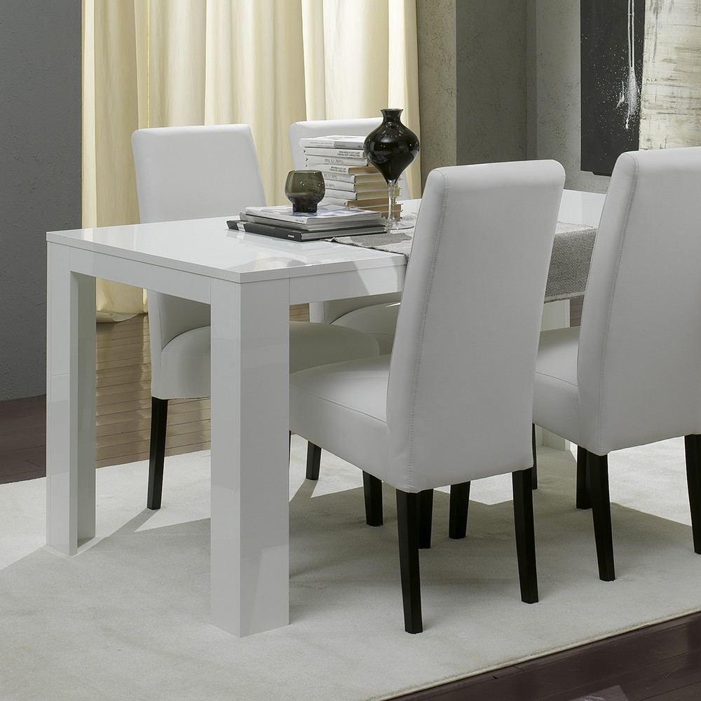 Commode haute - Table blanche salle a manger ...