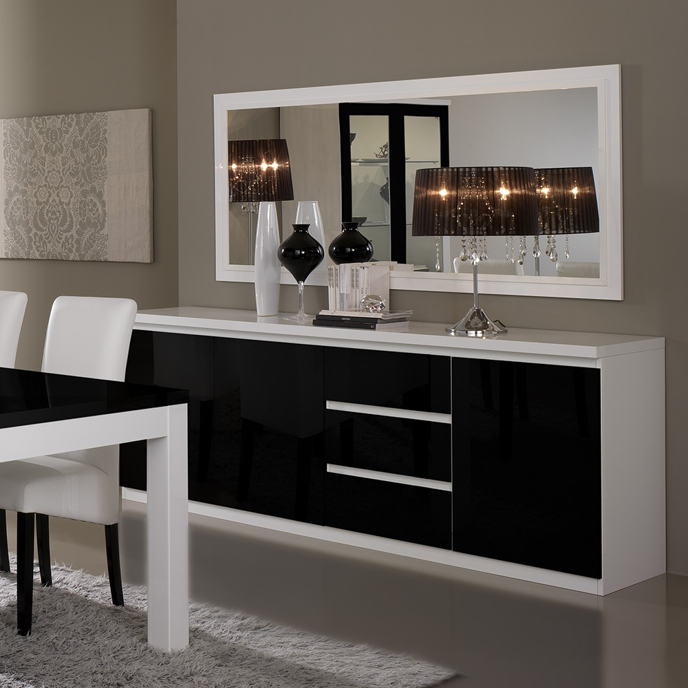 salle manger noir blanc. Black Bedroom Furniture Sets. Home Design Ideas