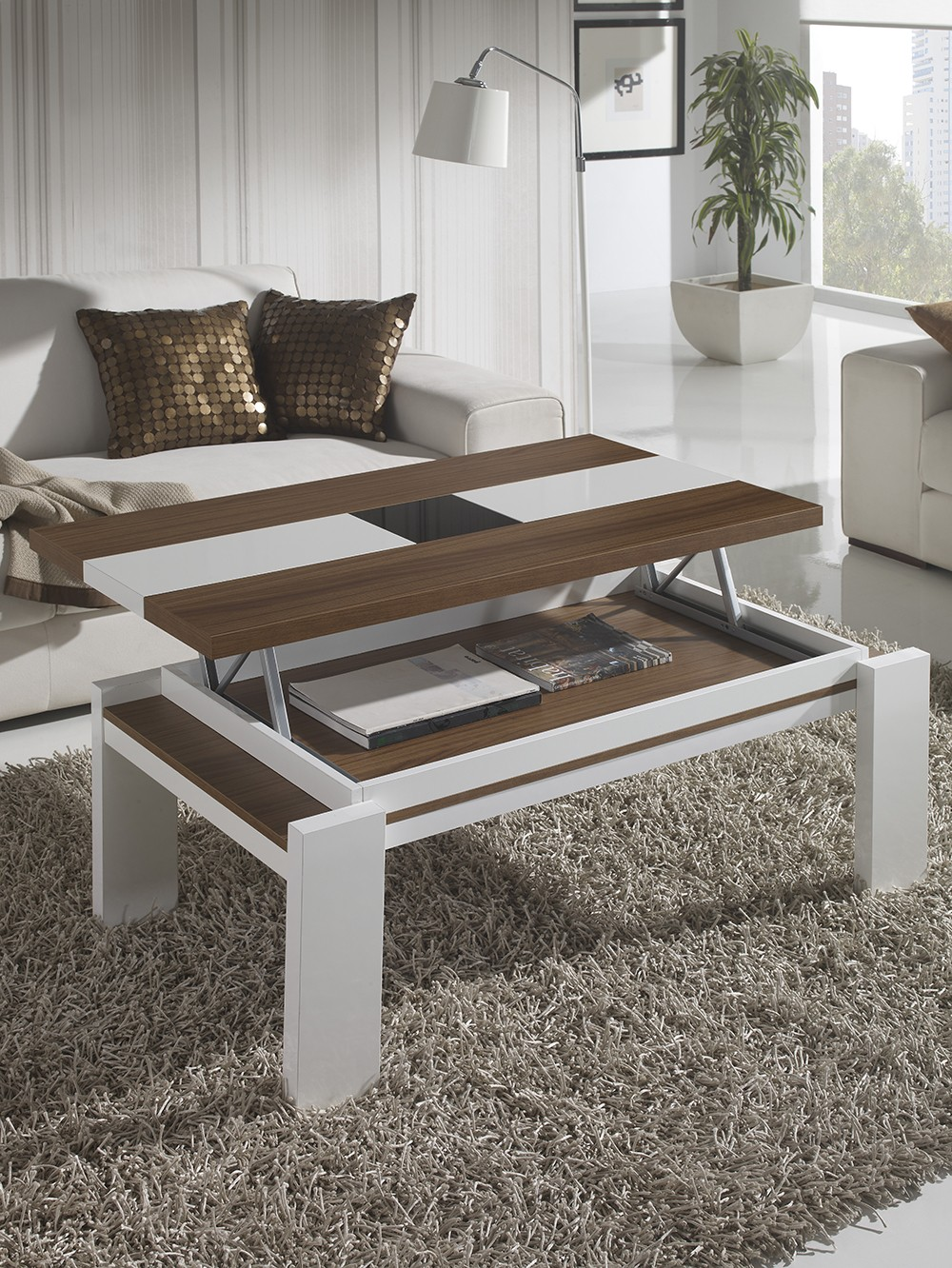 Table basse qui leve - Table de salon modulable ...