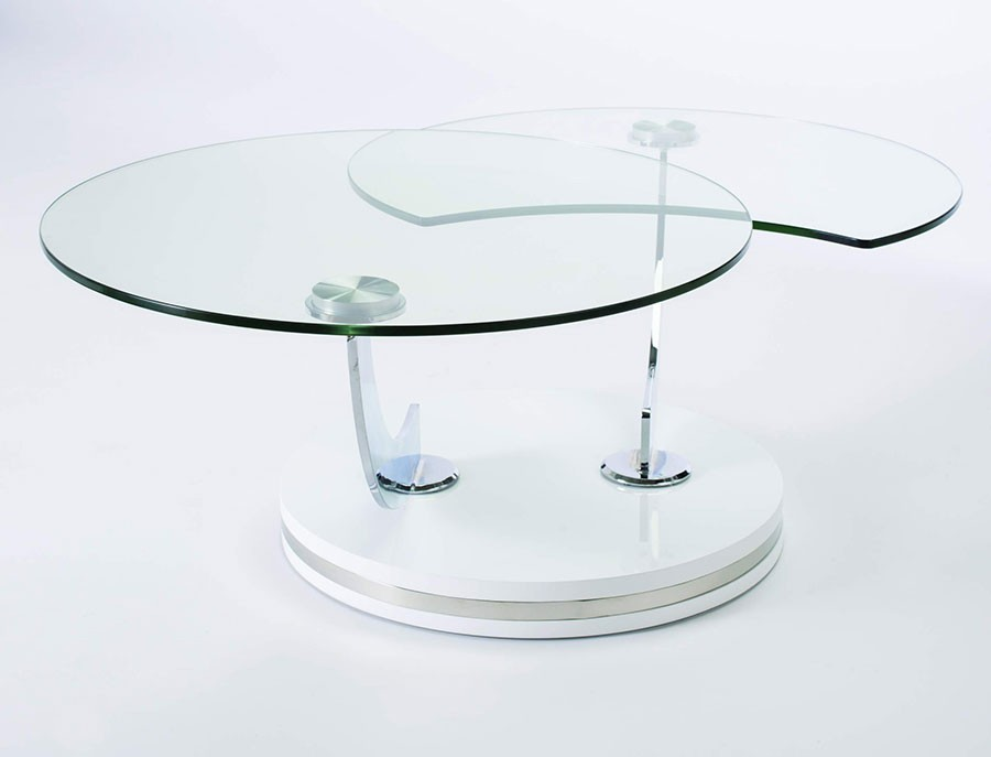 Table basse avec vitrine verre for Table basse vitrine