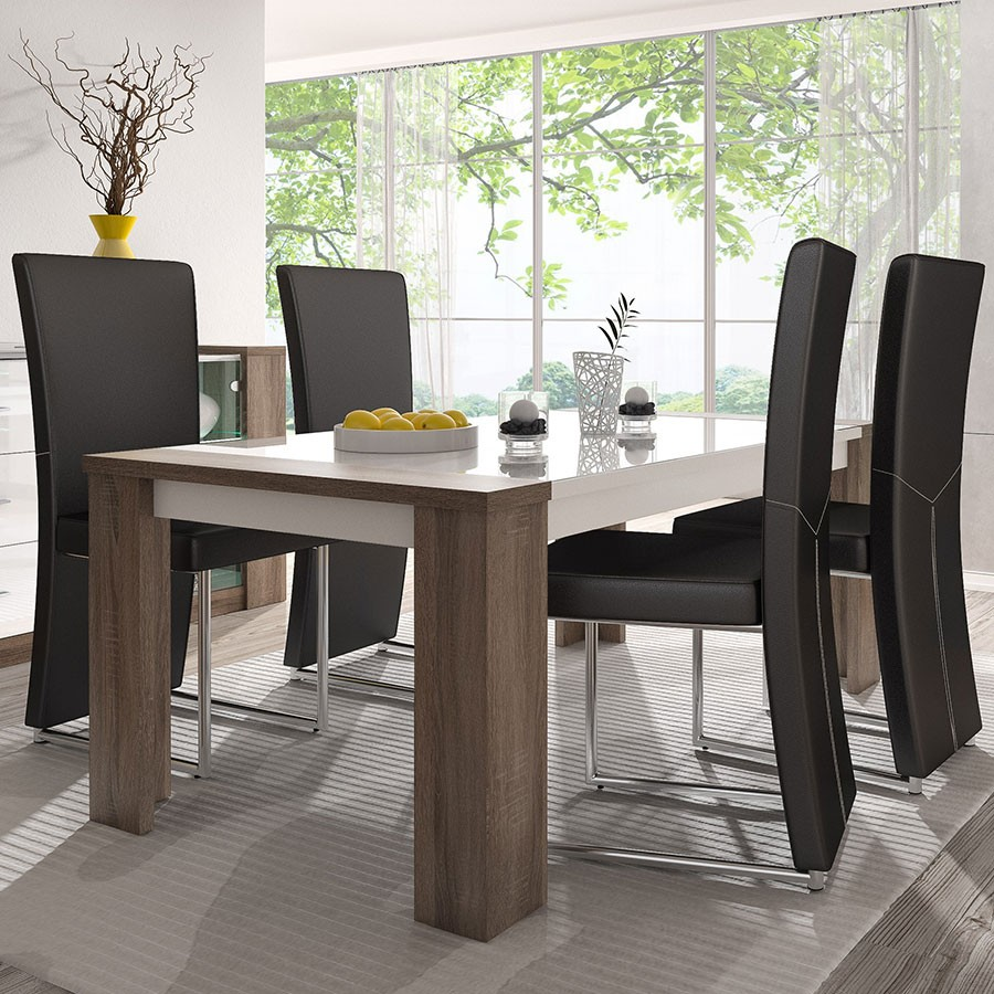 Table de salle a manger moderne maison design for Table salle a manger moderne design