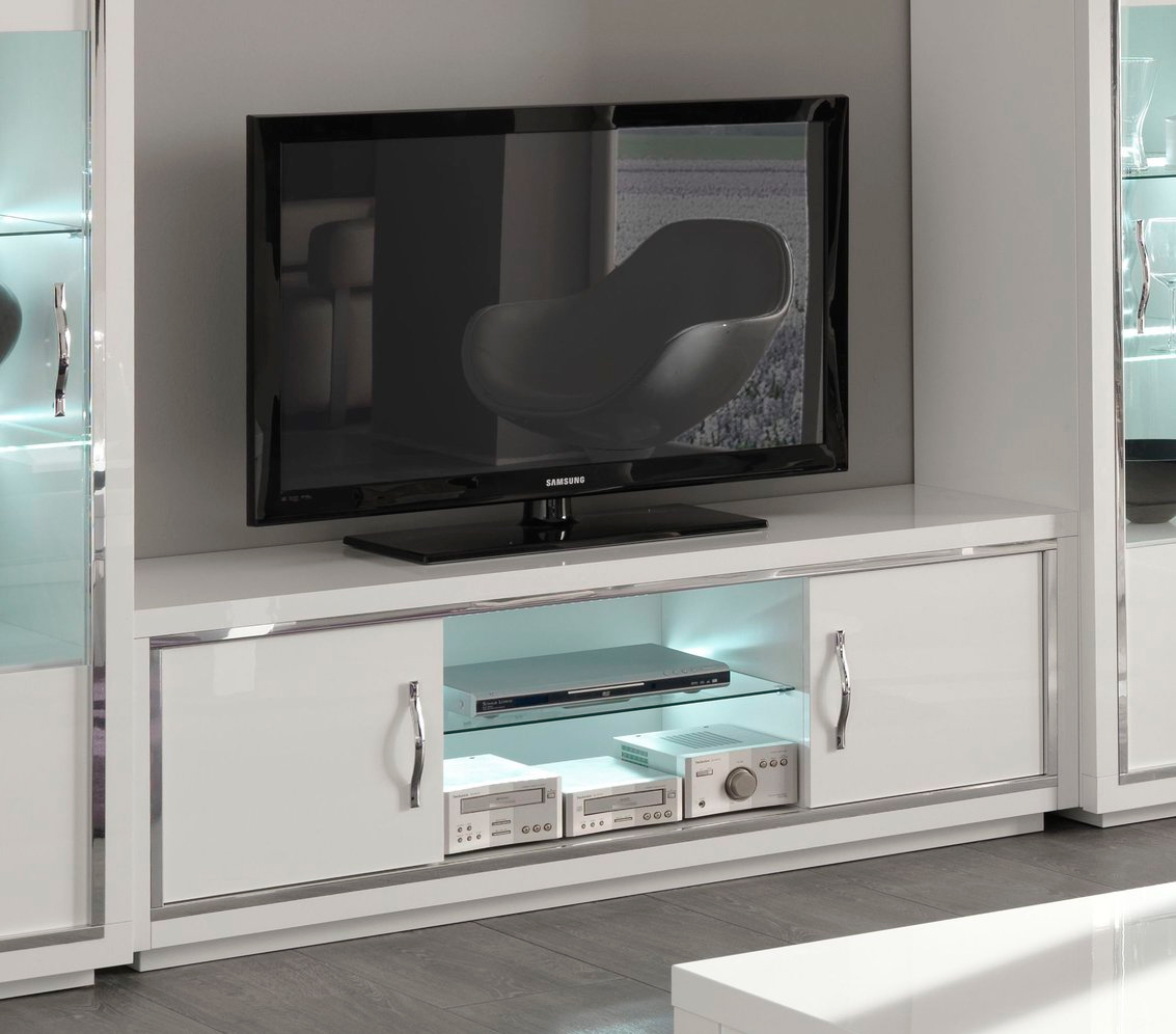 Meuble Tv Led Tron Artzein Com # Meuble Tv Hifi Ovale Blanc
