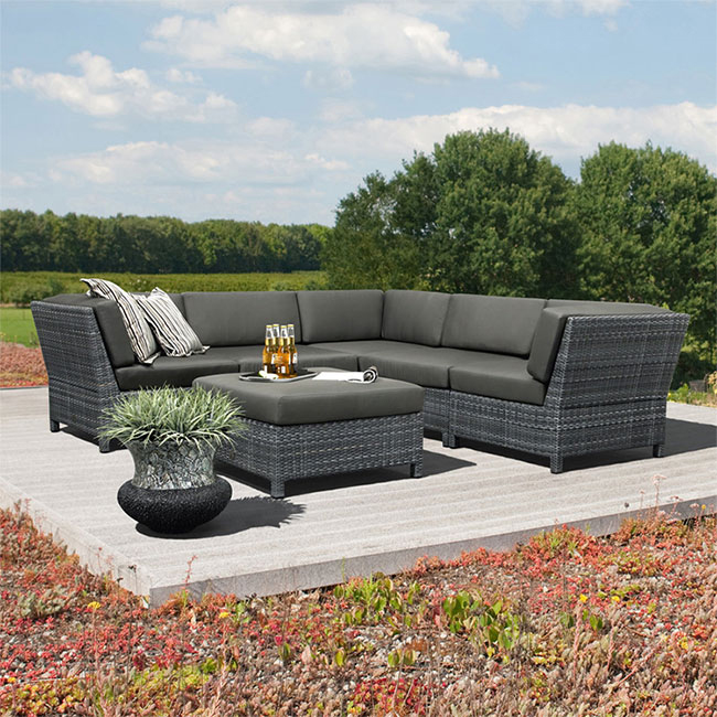 Salon de jardin albertin en aluminium recouverte de for Catalogue mobilier de jardin super u
