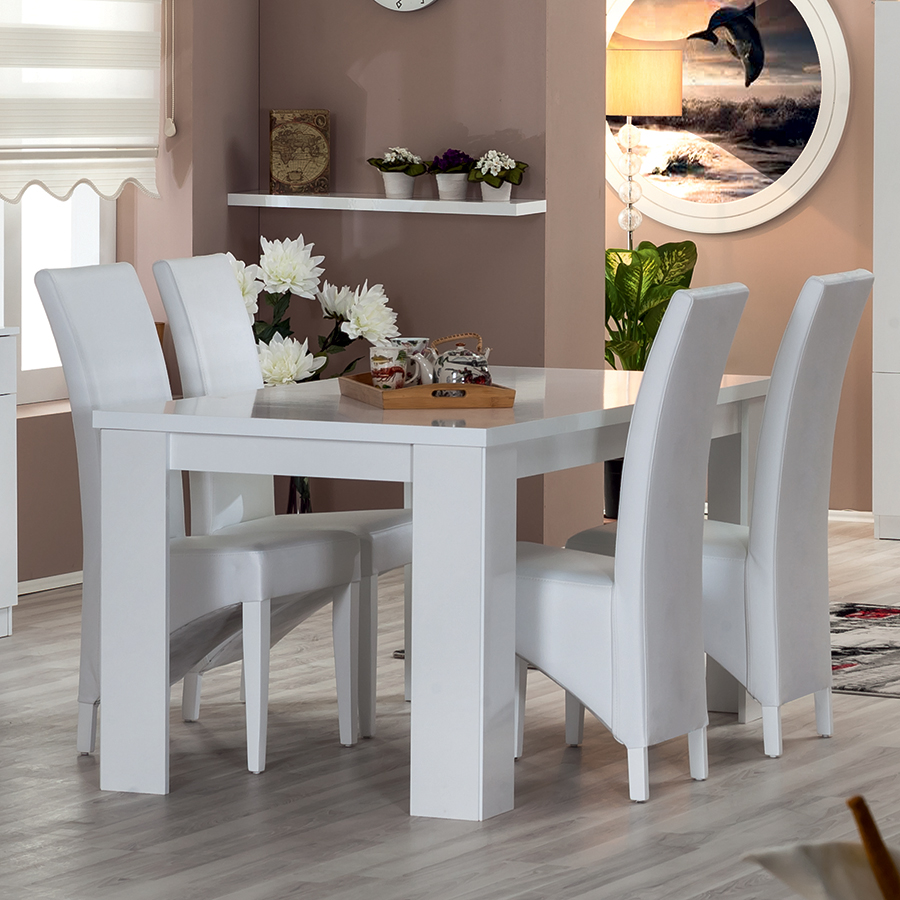 table de salle a manger laque blanc images. Black Bedroom Furniture Sets. Home Design Ideas
