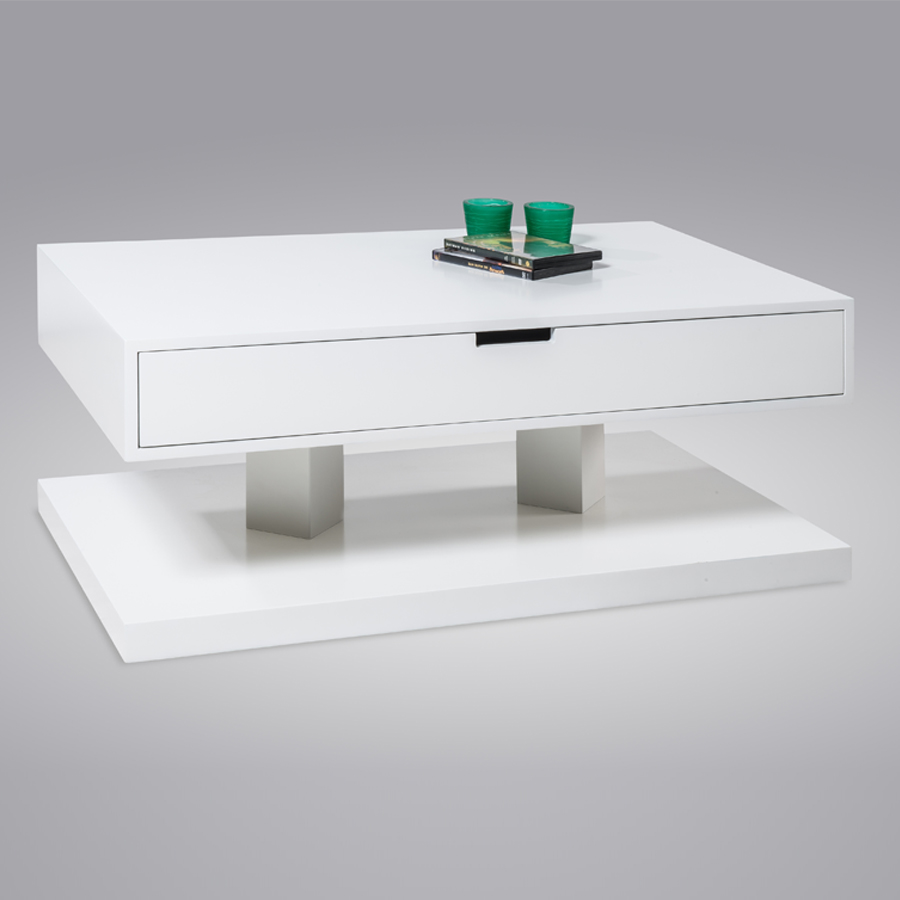 Table basse blanche avec tiroir maison design for Table basse tiroir