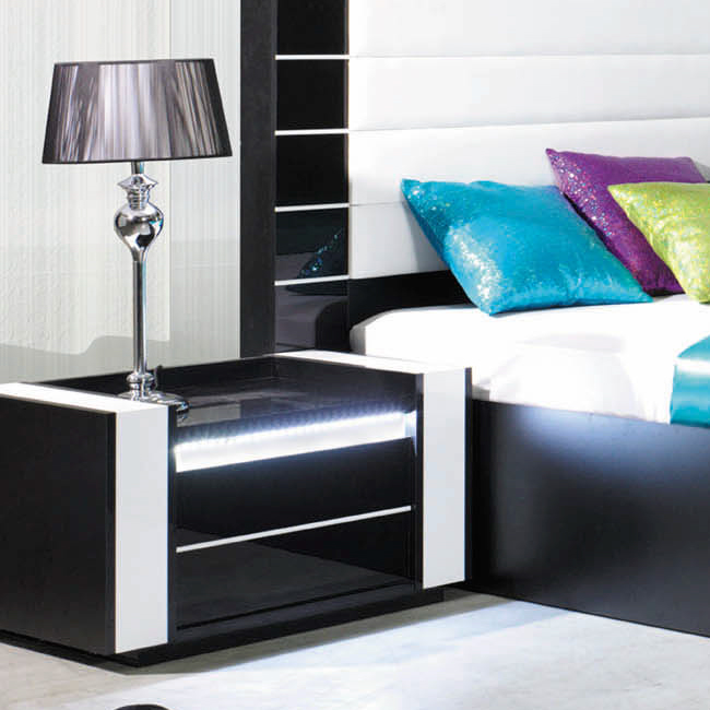 table de chevet led maison design. Black Bedroom Furniture Sets. Home Design Ideas